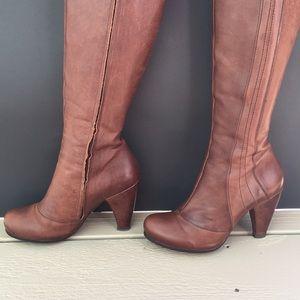 Anthropologie Boot EU7 Coclico tall tan brown